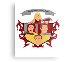 Buffy the Vampire Slayer Scooby Gang Family Crest Metal Print