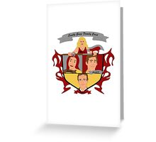 Buffy the Vampire Slayer Scooby Gang Family Crest Greeting Card