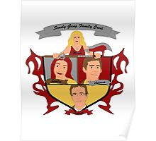 Buffy the Vampire Slayer Scooby Gang Family Crest Poster