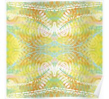 Bright Colorful Spring Butterfly Abstract Poster