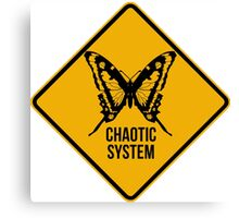 Chaotic system Canvas Print