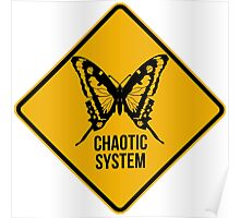Chaotic system. The butterfly effect. Chaos theory. Poster