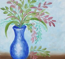 Blue Vase by paintwithbarb