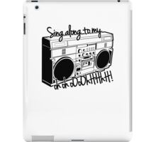 Sing A Long to My Stereo iPad Case/Skin