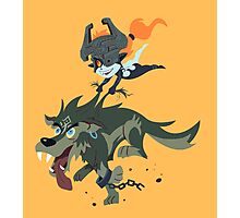 Link and Midna Photographic Print