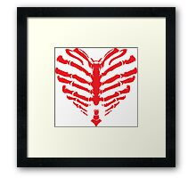 Valentines Ribs Skeleton Heart Framed Print