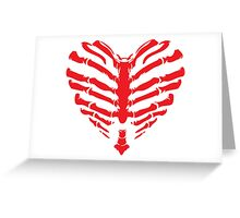 Valentines Ribs Skeleton Heart Greeting Card