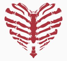 Valentines Ribs Skeleton Heart Kids Clothes