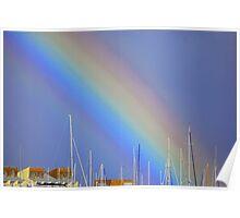 Rainbow over Fremantle Poster