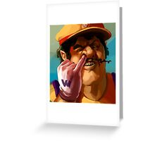 Wario Greeting Card