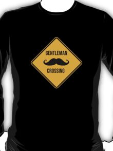 Gentleman crossing. Caution sign. T-Shirt