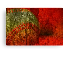 Baseball Abstract Canvas Print