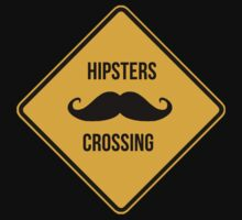 Hipsters crossing. Moustache caution sign. by 2monthsoff