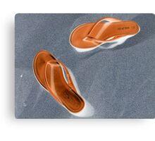 Flip-flop Sandals Canvas Print