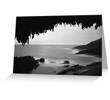 Admiral's Arch in the moon light, Kangaroo Island, South Australia Greeting Card