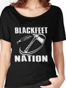 BLACKFEET NATION-TOMAHAWK Women's Relaxed Fit T-Shirt