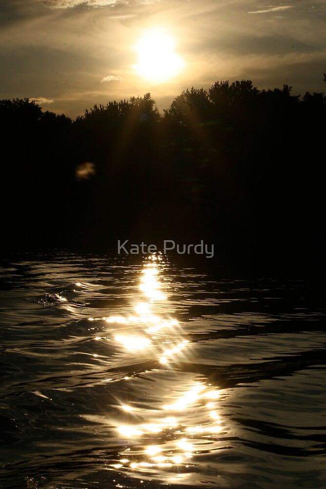 Sunset on the River by Kate Purdy