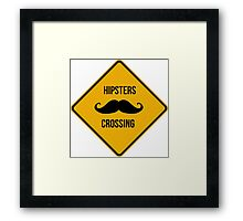 Hipsters crossing! Caution!!! Framed Print