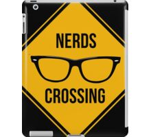 Nerds crossing. Caution sign. iPad Case/Skin