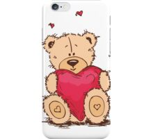 Cute Teddy Bear Valentine iPhone Case/Skin