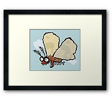 Melli, the mean moth Framed Print
