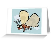 Melli, the mean moth Greeting Card