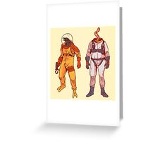 Earthworm Jim & Psycrow Greeting Card