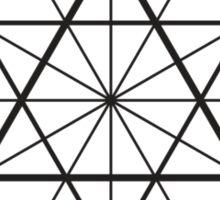 Cube Octahedron White Sticker