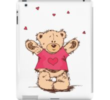Cute Teddy Bear With Arm Open  iPad Case/Skin