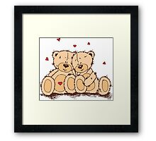 Cute Teddy Bear Valentine Framed Print