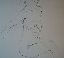 Ten minute nude (July 2008) Pencil & Charcol by fatchickengirl