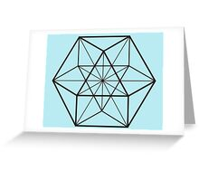 Cube-Octahedron  Greeting Card