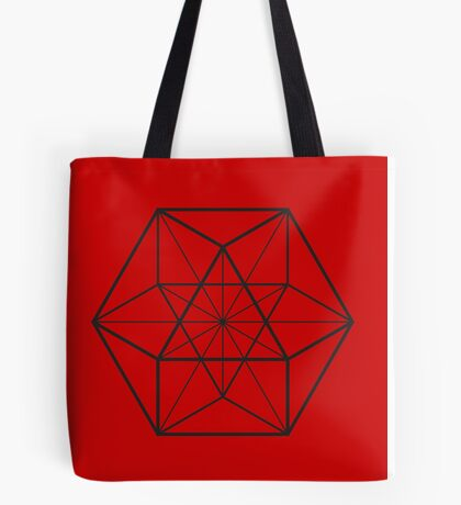 Cube Octahedron Red Tote Bag