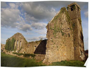 Ruined church at Quin Abbey by John Quinn