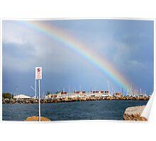 rainbow over Fremantle #2 Poster
