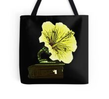 A steampunk record player-flower Tote Bag