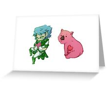 Earth Defense Club - Atsushi sticker with Wombat Greeting Card