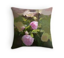 Abstract of Angela's Roses Throw Pillow