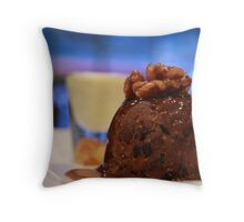 Fig & Walnut Pudding Throw Pillow