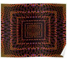Tumbler No. 24 - Psychedelic Groovy Optical Illusion Geometric Pattern Poster