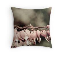 fuschia or dicentra Branch Throw Pillow