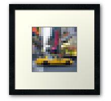 NY taxi Framed Print
