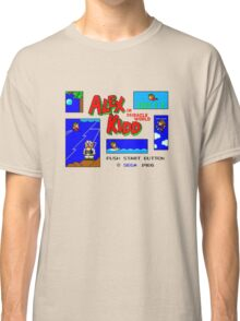 Alex Kidd in Miracle World [title screen] Classic T-Shirt