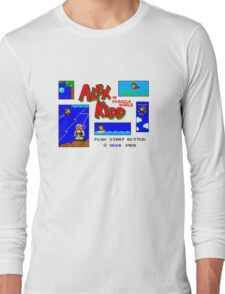 Alex Kidd in Miracle World [title screen] Long Sleeve T-Shirt