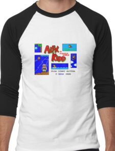 Alex Kidd in Miracle World [title screen] Men's Baseball ¾ T-Shirt