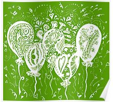 Party Time Aussie Tangle White - Heather Holland - See Product Notes re Colour Options.  Poster