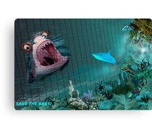 SAVE THE BABY! Canvas Print
