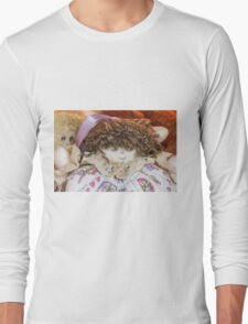 old doll fabric Long Sleeve T-Shirt