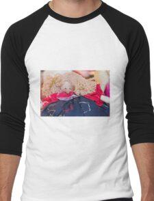 old doll fabric Men's Baseball ¾ T-Shirt