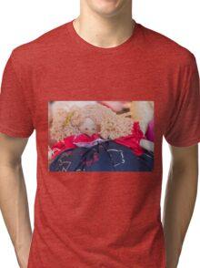 old doll fabric Tri-blend T-Shirt